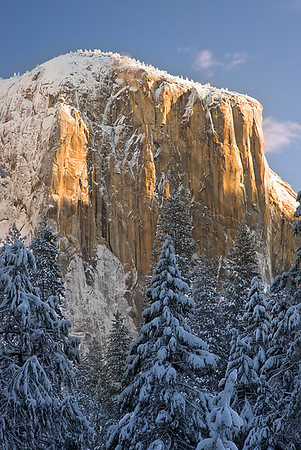El Cap Shrouded in Snow