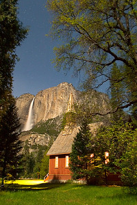Yosemite Chapel in the Moonlight