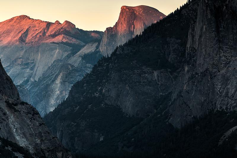 Half Dome Last Light - Tunnel View - Yosemite National Park