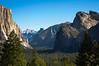 Iconic Yosemite on a summer morning