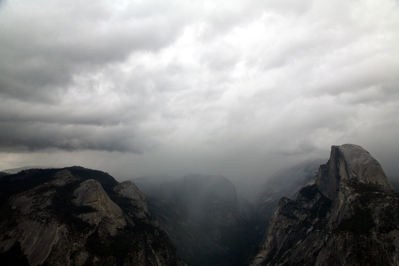 Rain Coming In - Glacier Point - Yosemite National Park
