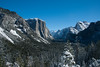 Tunnel view under clear skies