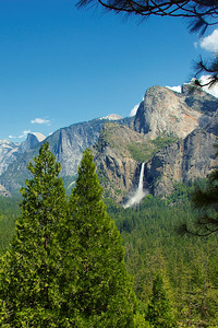 """Bridalveil Falls and Half Dome"""