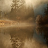 Steam on a chilly winter morning in yosemite national park.  The merced river offers quite a few wonderful places to stroll in the early morning and late afternoon