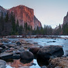 El Capitan over the Merced River