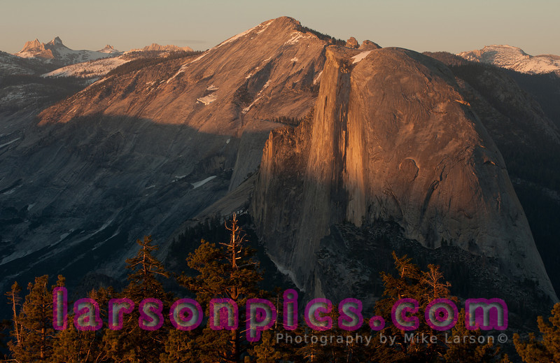 Sunset over Half-Dome