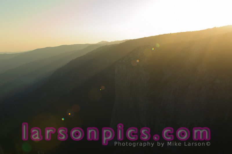 Sentinel Dome Sunset and Lens Flare