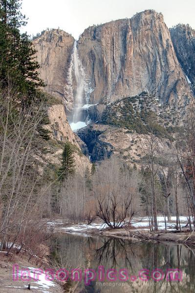 Yosemite Falls taken from Swinging Bridge