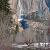 Yosemite Falls taken from Swinging Bridge
