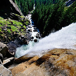 Hanging over Vernal Falls.  I shot this by extending my tripod and holding it over the falls to get a full straight down view over Vernal Falls.  Sure glad I didn't drop it!!DSC_6340