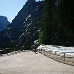 """River Flowing Above Vernal Falls""  This is an area above Vernal Falls that shows the power of the water flowing by. Unfortunately, many people have ignored all the warning signs around that tell not to go into the water and have slipped in and plunged to their death."