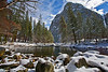California, Yosemite National Park, Winter, Snow Landscape 加利福尼亚  优胜美地国家公园 冬 风景