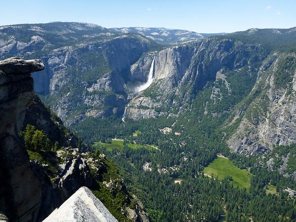 Yos Falls from Glacier Pt.