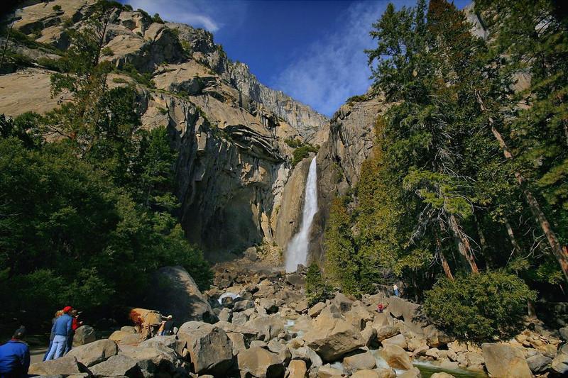 Yosemite Falls through a very wide angle lens. 2-14-2010.