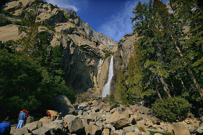 Yosemite Falls through a very wide angle lens. 2-14-2010.