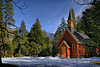 Yosemite Chapel from roadside vantage point.