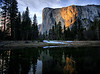 Sunset on El Capitan, Yosemite, 2-13-2010