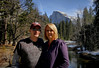 Jennifer and Greg in front of Half Dome, Yosemite, Feb 14, 2010