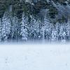 Snow and mist