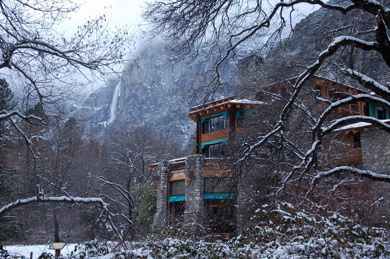 """""""The Ahwahnee Hotel in Winter"""" I love nothing better than being in Yosemite in the winter! The Ahwahnee Hotel just looks amazing with the rock face backdrop behind. This is from a few years ago and can't wait to get back there again for similar conditions! Have any stories to share from the Ahwahnee or any other Yosemite favorite location?! Please like or share it with friends who also might enjoy!   Copyright John Harrison Photography— at Yosemite National Park."""