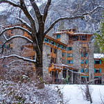 """The Ahwahnee Hotel in Winter"" I love nothing better than being in Yosemite in the winter! The Ahwahnee Hotel just looks amazing with the rock face backdrop behind. This is from a few years ago and can't wait to get back there again for similar conditions! Have any stories to share from the Ahwahnee or any other Yosemite favorite location?! Please like or share it with friends who also might enjoy!    Copyright John Harrison Photography  — at Yosemite National Park."