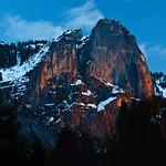 """Sentinel Rock at Sunset"""