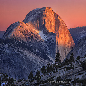 Half Dome's North Face in Yosemite National Park, California