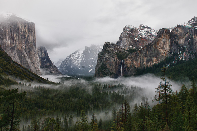 "Yosemite valley in the fog. Go to Fine Art america and add a beautiful custom frame to this picture. Just click on the link (yosemite art) <a href=""http://fineartamerica.com/art/all/yosemite/all"" style=""font: 10pt arial; text-decoration: underline;"">yosemite art</a>"