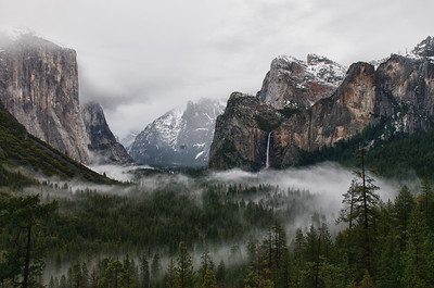 Yosemite valley in the fog. Go to Fine Art america and add a beautiful custom frame to this picture. Just click on the link (yosemite art) yosemite art