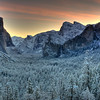 "Sunrise Yosemite valley after an evening snow storm.<br /> NOTE:  You can add a beautiful custom frame to this image at  <a href=""http://www.americanframe.com"">http://www.americanframe.com</a>.  Just type jay seeley into the search box and go from there."