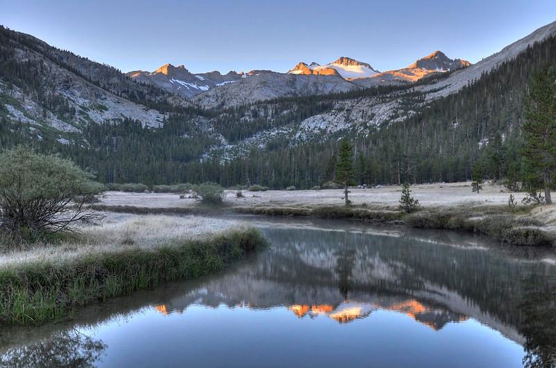 Dawn, Lyell Canyon, Yosemite National Park, US