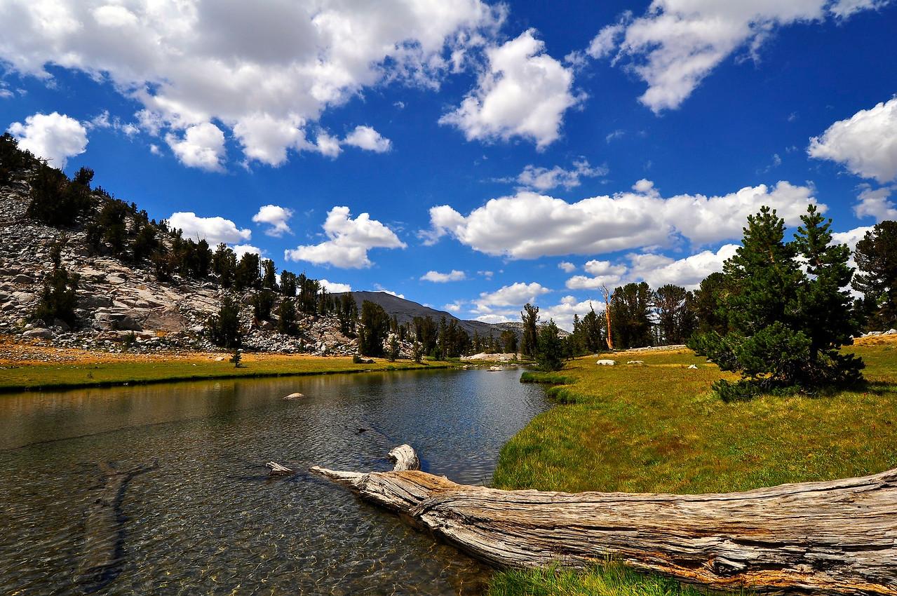 Unnamed lake near Donahue Pass, Yosemite National Park.