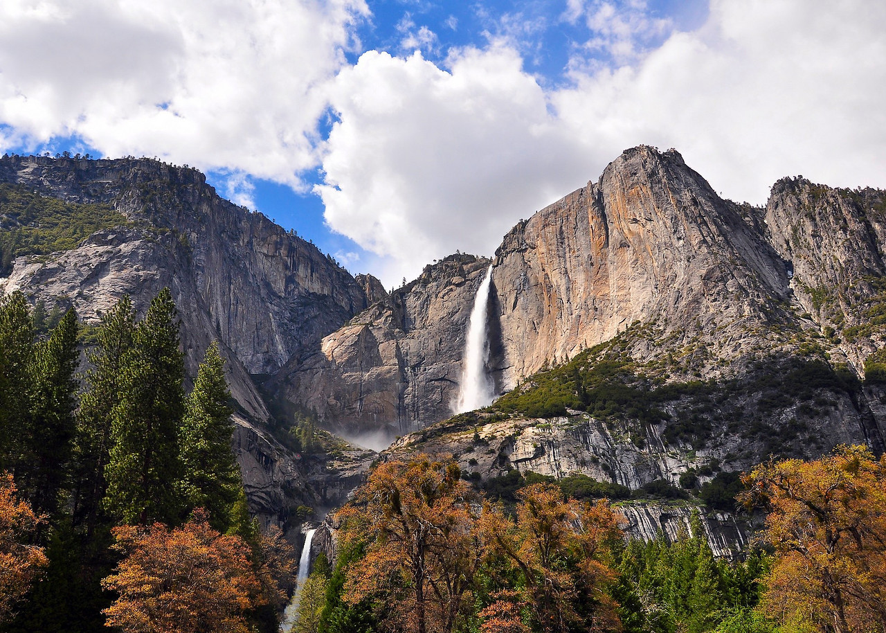 Upper and Lower Yosemite Falls, from Cook's Meadow, Yosemite National Park