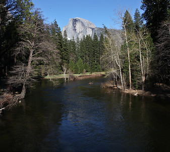 Half Dome & Merced River from Sentinel Bridge