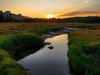 Unicorn Creek, Tuolumne Meadows sunset, Yosemite National Park, US