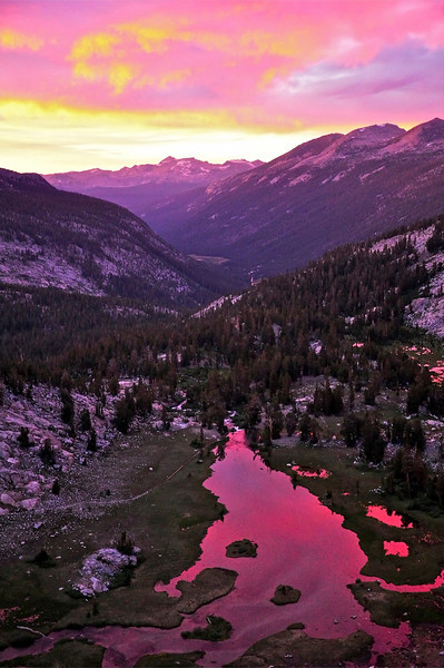 Lyell Canyon Sunset, Yosemite National Park
