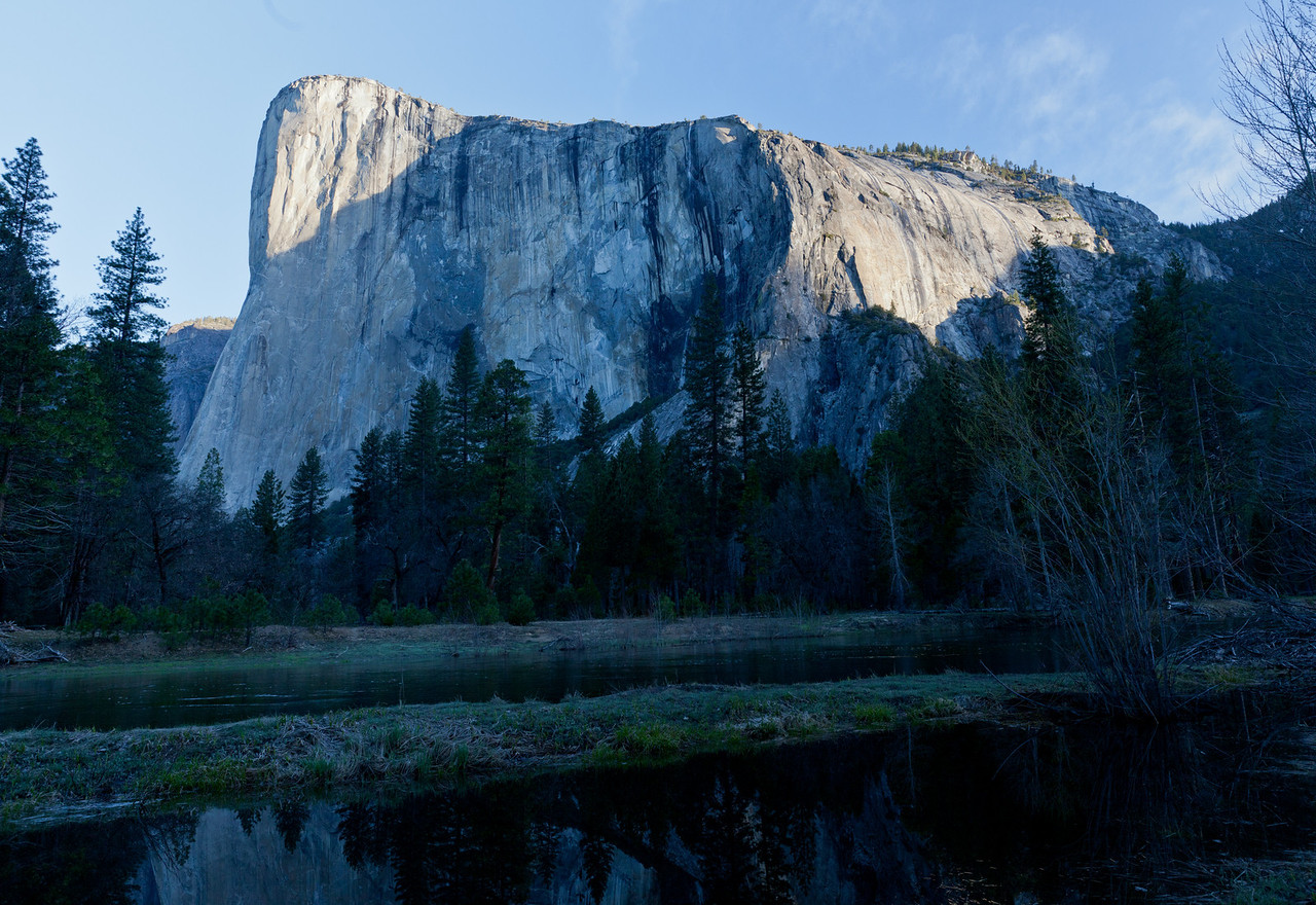 El Capitan from Cathedral Beach at sunrise