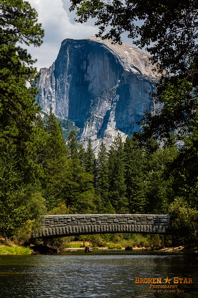 Half Dome view over Sentinel Bridge, Yosemite National Park