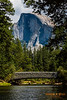 Half Dome view over Sentinel Bridge