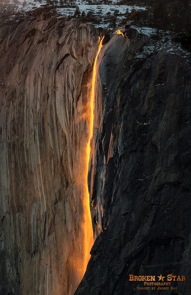 Firefall at Horsetail Falls on El Capitan