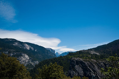 Half Dome from Big Oak Flat Road & Old Yosemite Coulterville Rd