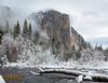 Snowy El Capitan & Merced River