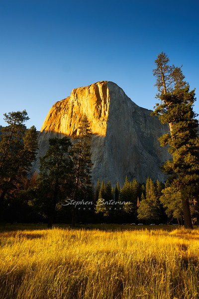 Sunset on El Capitan and Meadow
