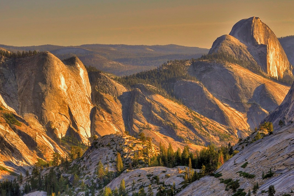 Quarter Domes & Half Dome, Yosemite National Park, US