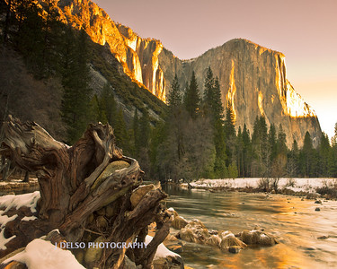 Yosemite- El Capitan from Valley View 1-2