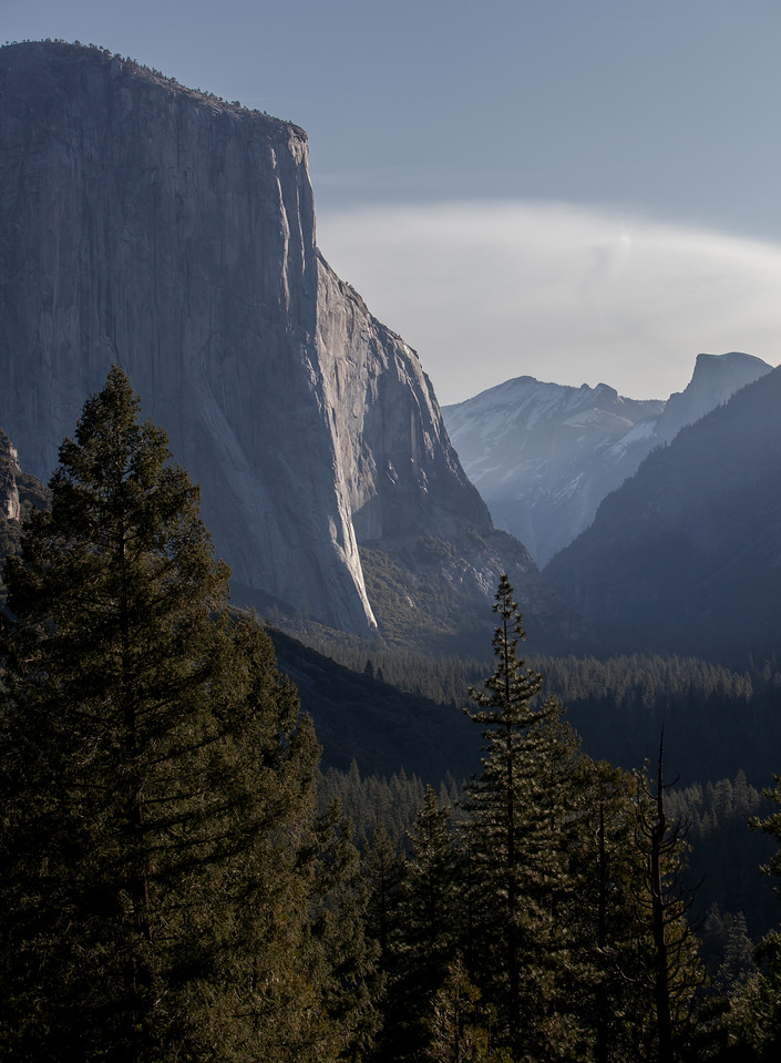 El Capitan at sunrise from Tunnel View