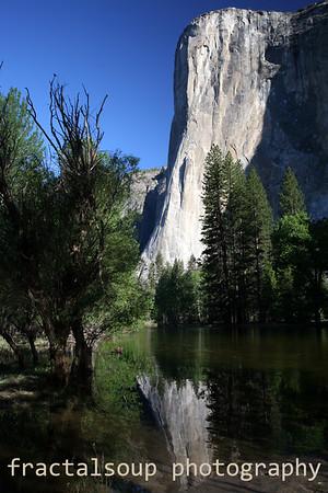 El Capitan Reflecting in the Merced River