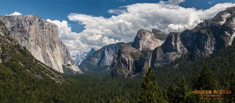 Tunnel View, Yosemite National Park.  5-Shot panorama