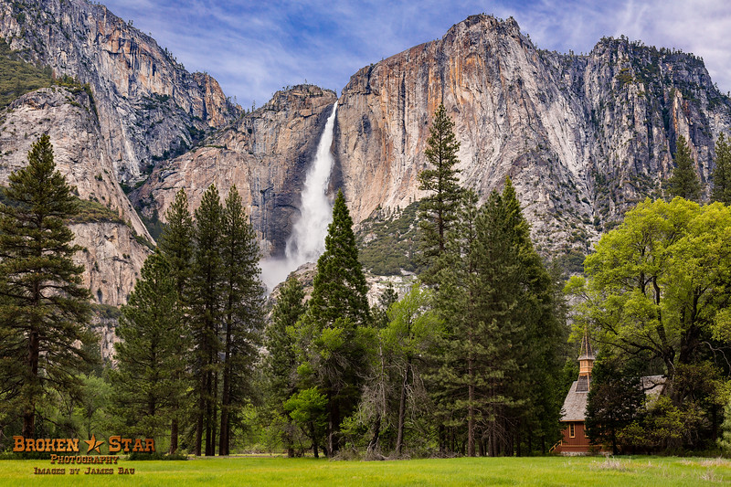 Yosemite Falls from Chapel Meadow
