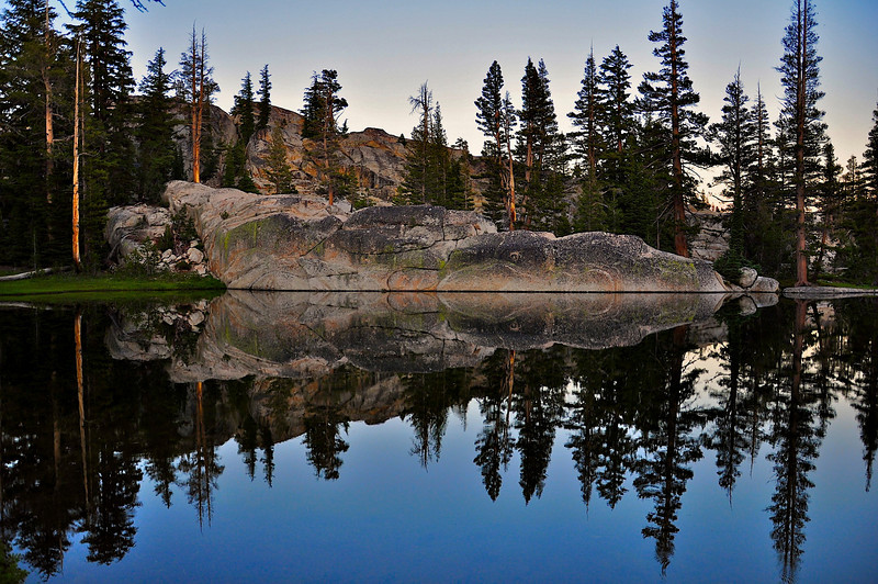 Pond near Miller Lake, above Matterhorn Canyon, Pacific Crest Trail, northern Yosemite National Park.